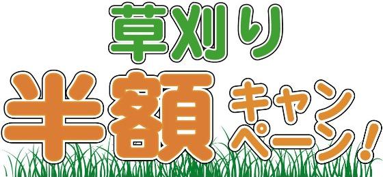 草刈り半額キャンペーン